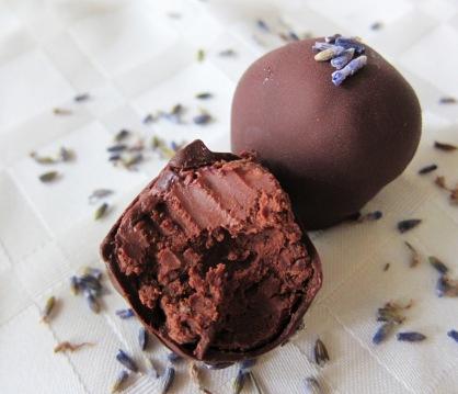 lavender flavoured truffles
