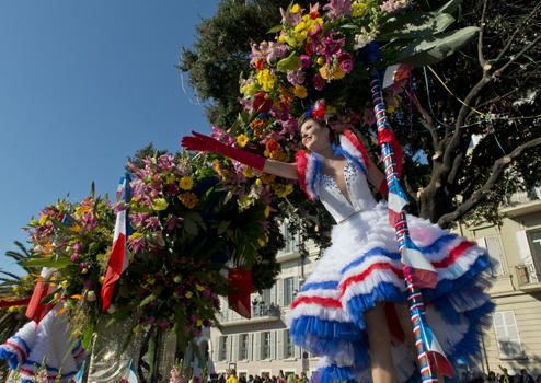 Bataille de Fleurs in Nice, France