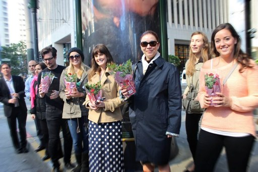 Rocket Farms gives away 500 roses on Valentine's Day 2013.