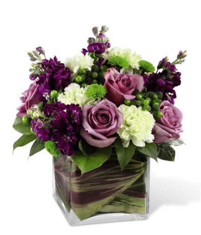 Beloved Blooms bouquet from GrowerDirect.com; green and purple flowers- trend for 2013