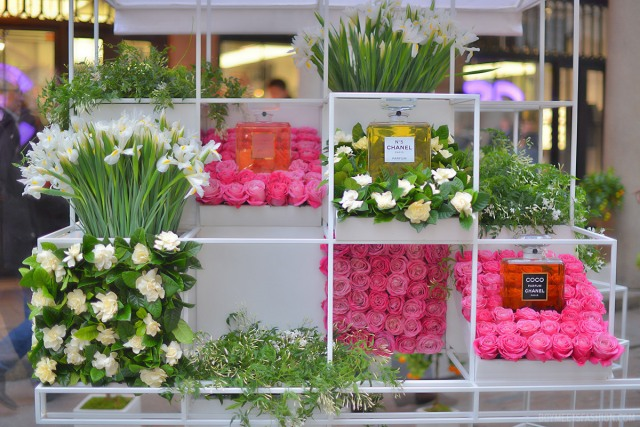 Chanel opens pop-up flower stall in London, England, 2013