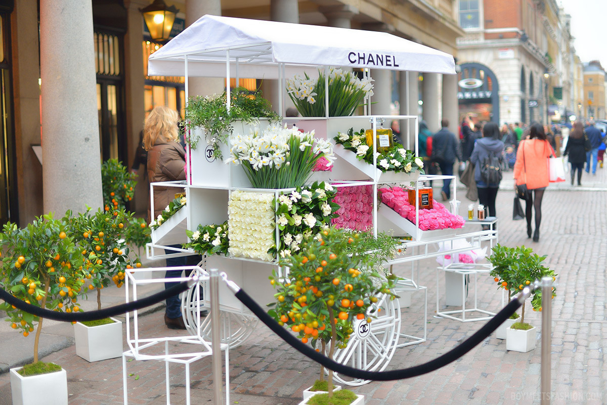 Chanel opens pop up flower stall in london grower direct for Designs east florist interior