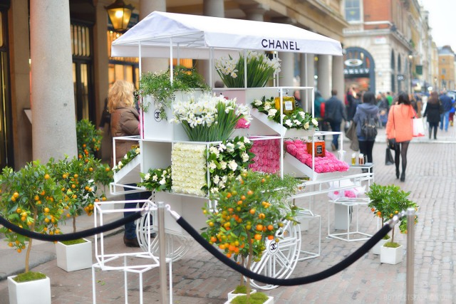 Chanel Flower Stall in London, England March 2013