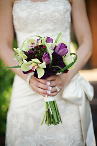 green and purple flowers; colour trends for 2013