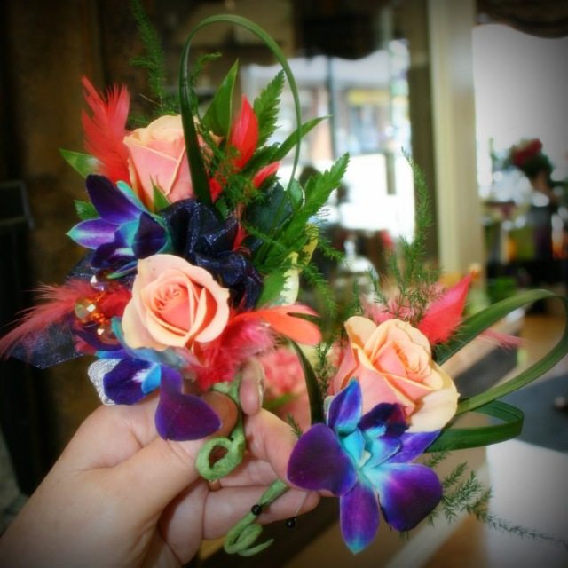 grad corsage from Grower Direct Fresh Cut Flowers