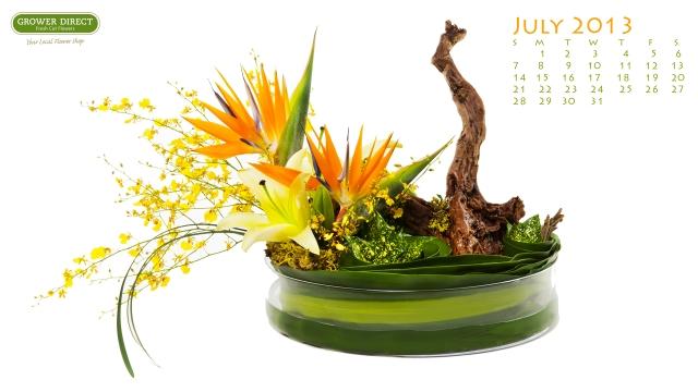 A tropical flower arrangement