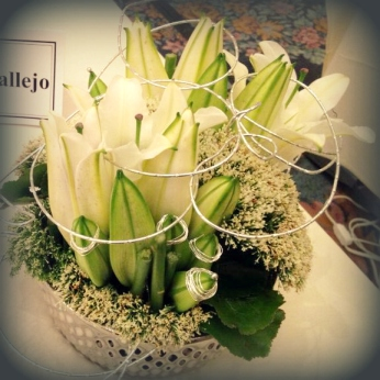 floral arrangement at AIFD Passion Symposium 2013