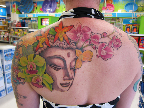 orchid flowers tattoo