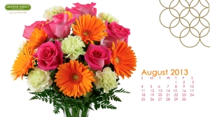 desktop calendar wallpaper for August2013