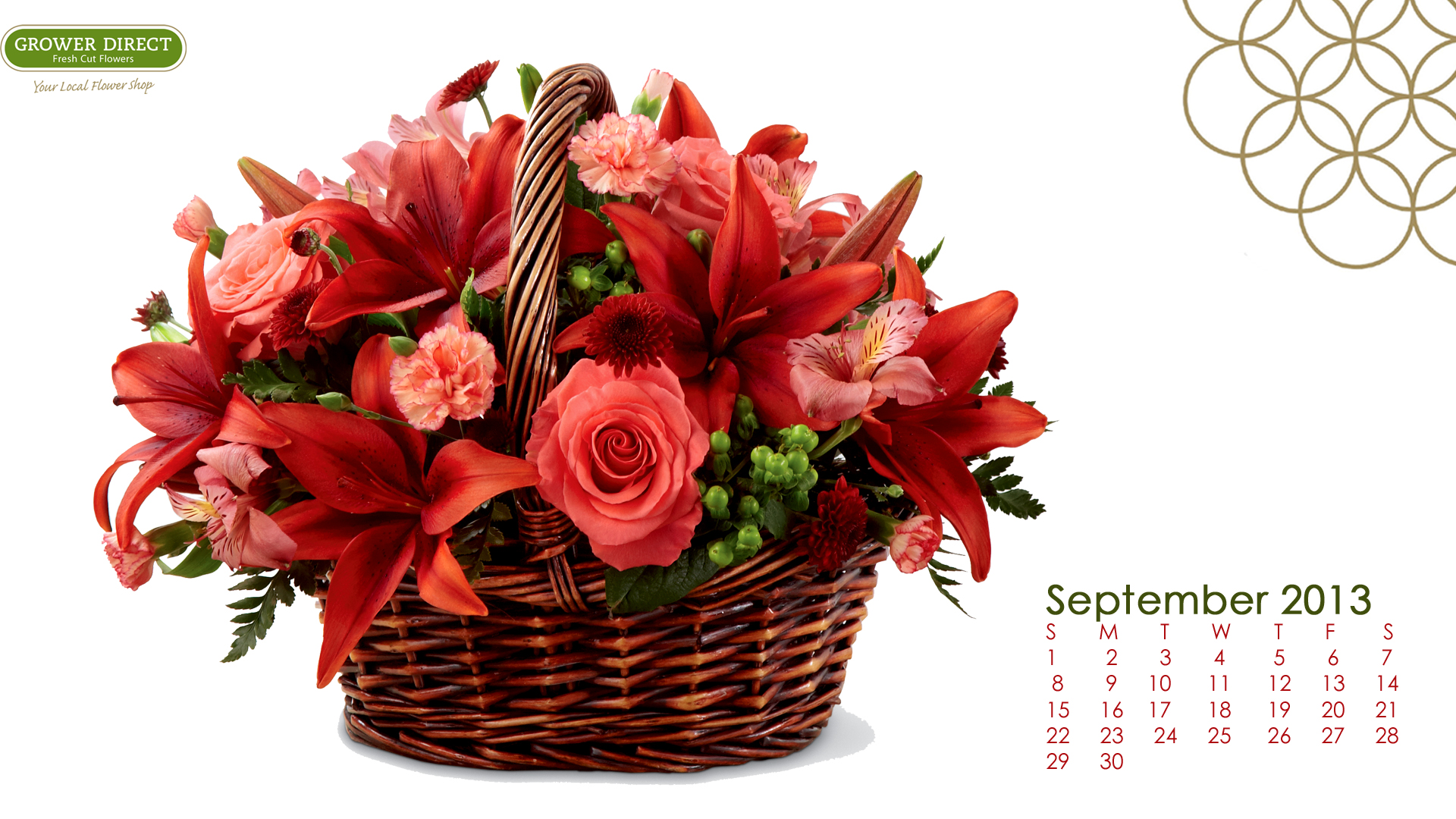 Freebie Friday: Free September 2013 Desktop Calendar Wallpaper