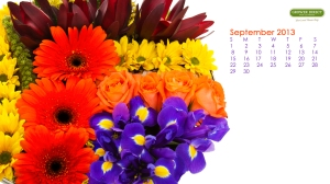 Free September 2013 Desktop wallpaper calendar