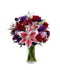 Just Because Bouquet with lilies from Grower Direct Fresh Cut Flowers