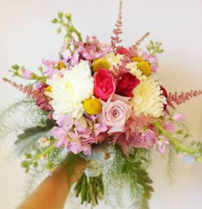 Wedding Bouquet with texture
