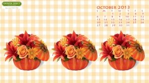 Desktop wallpaper with pumpkins