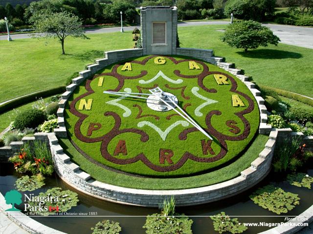 Niagara Falls Flower clock