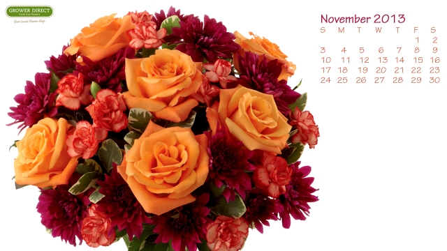 Free floral desktop calendar